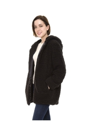 Lets Accessorize Hooded Sherpa Jacket - Front cropped