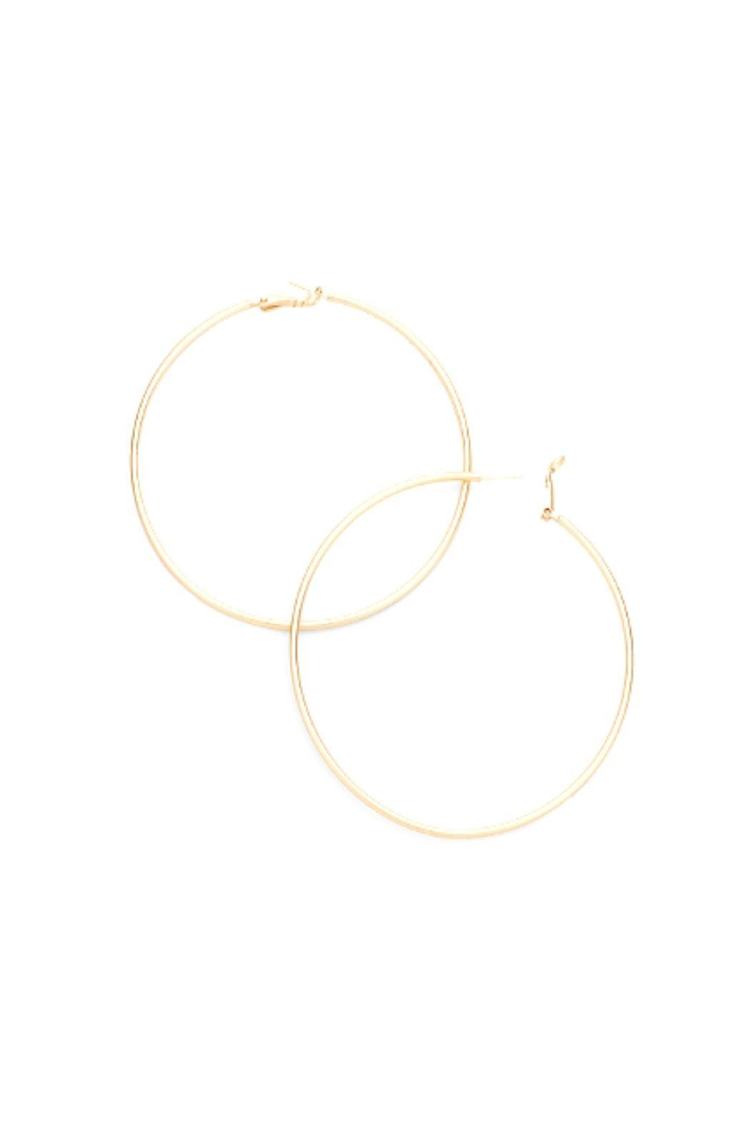 Lets Accessorize Hoops - Front Cropped Image
