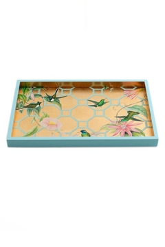 Lets Accessorize Hummingbird Trellis Tray - Alternate List Image