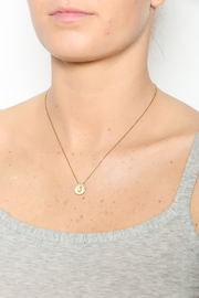Lets Accessorize Initial Pendant Necklace - Front full body