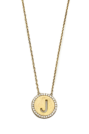 Lets Accessorize Initial Pendant Necklace - Back cropped