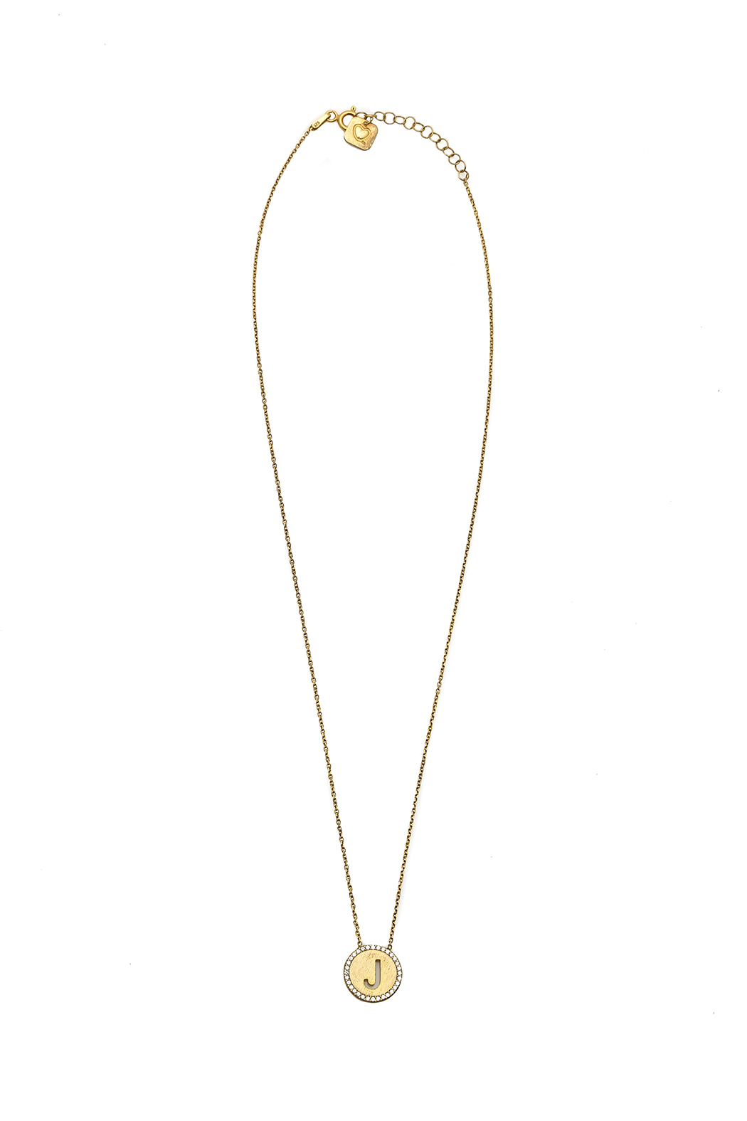 Lets Accessorize Initial Pendant Necklace - Front Cropped Image