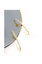 Lets Accessorize Inside Out Cz Hoops - Product Mini Image