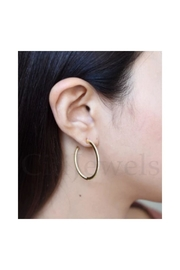 Lets Accessorize Inside Out Cz Hoops - Front full body