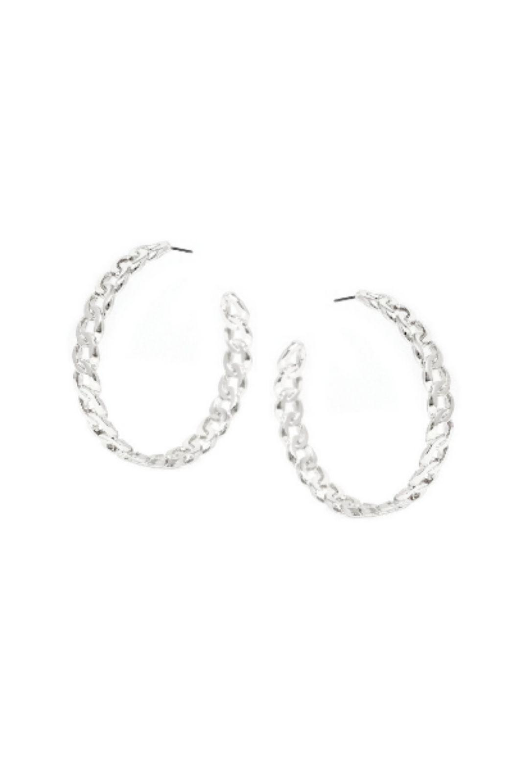 Lets Accessorize Large Chain Hoops - Main Image