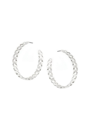 Lets Accessorize Large Chain Hoops - Product Mini Image