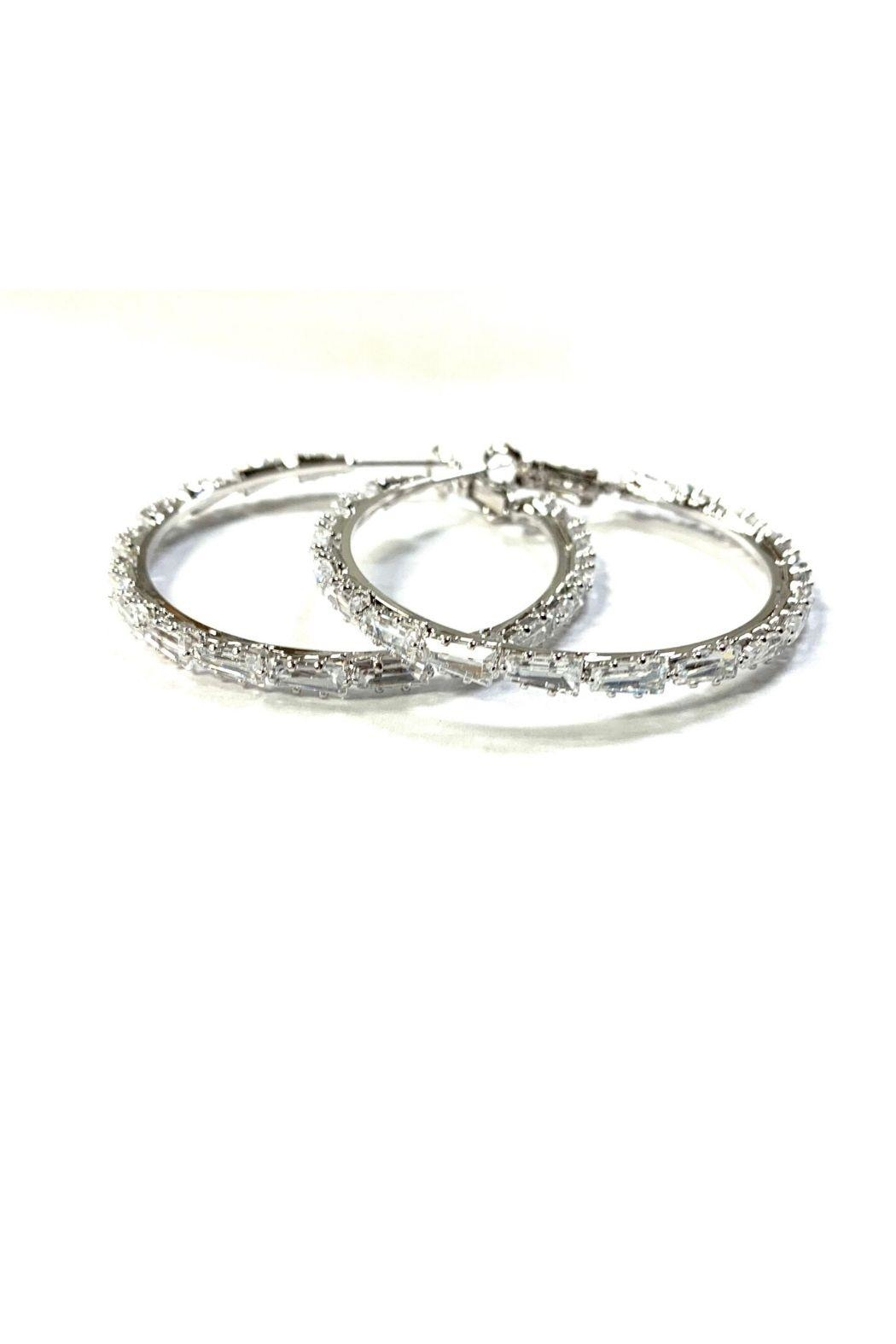 Lets Accessorize Large Cz Hoops - Main Image