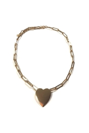 Lets Accessorize Large-Link Heart Choker - Product Mini Image
