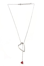 Lets Accessorize Lariat Red-Heart Necklace - Front cropped