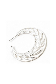 Lets Accessorize Leaf Hoop Earrings - Product Mini Image