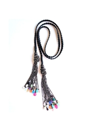 Lets Accessorize Leather Tassel Necklace - Product Mini Image