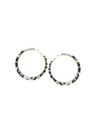 Lets Accessorize Leopard Hoop Earrings - Front cropped