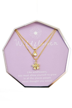 Lets Accessorize Lily Layer Wildflower Necklace - Alternate List Image