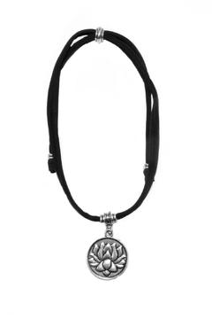 Lets Accessorize Lotus Pendant Choker - Alternate List Image