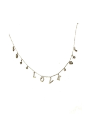Lets Accessorize Love Charm Necklace - Front cropped
