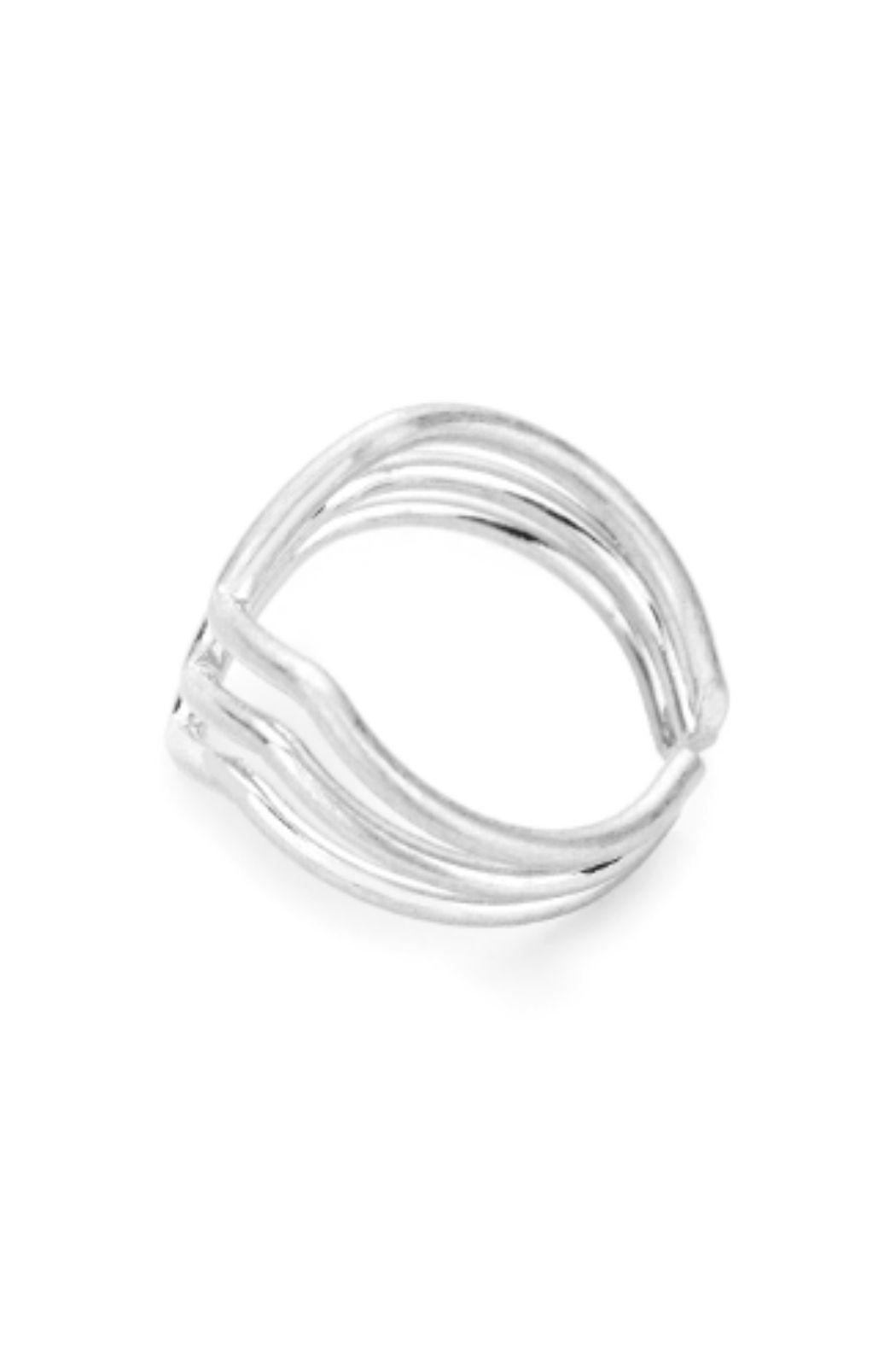 Lets Accessorize Metal Cuff Ring - Front Full Image