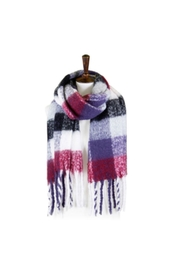 Lets Accessorize Multicolor Plaid Fringe Scarf - Product Mini Image