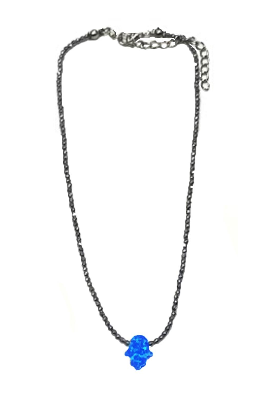 Lets Accessorize Opal Hamsa Choker - Front Cropped Image
