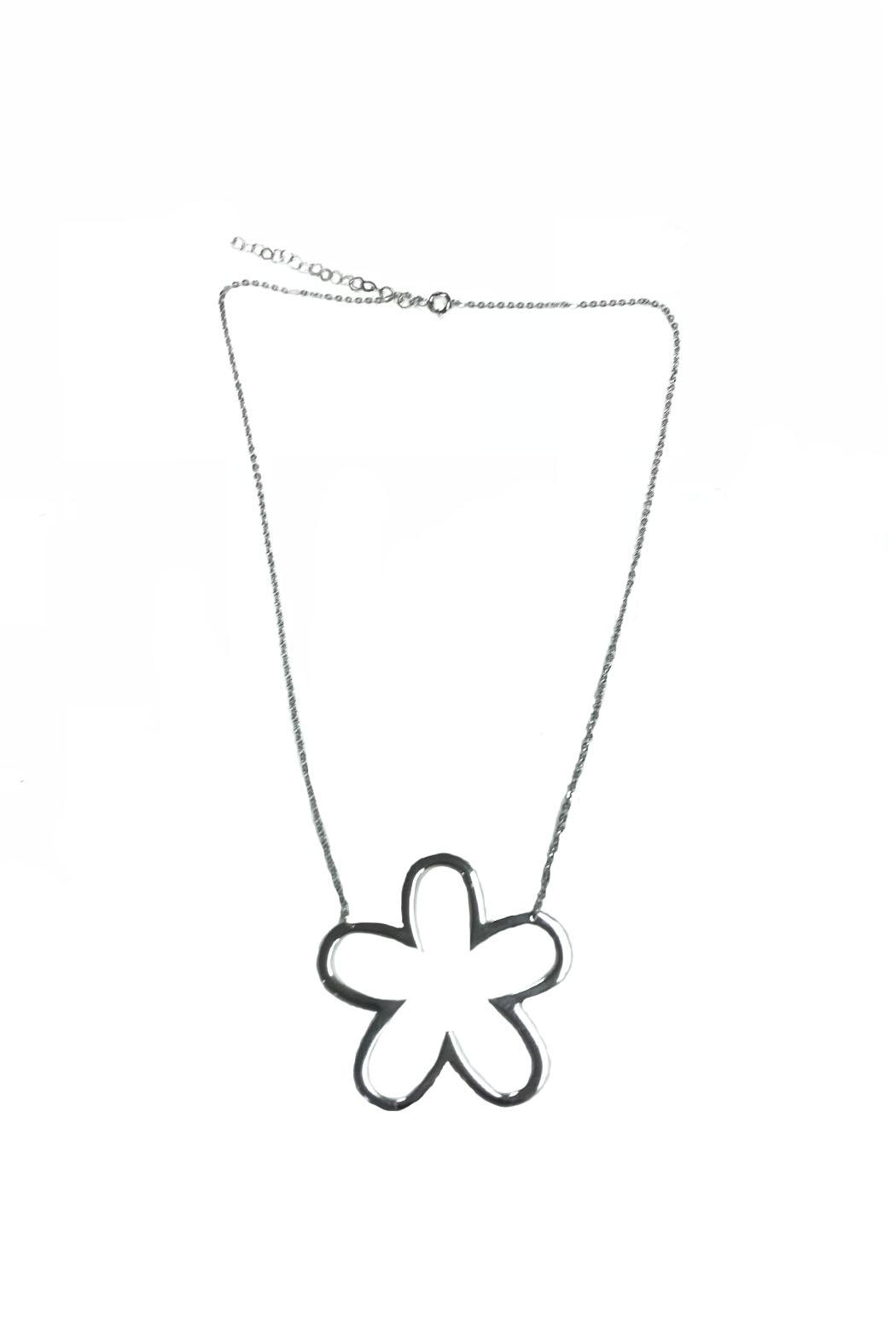 Lets Accessorize Open Flower Necklace - Front Full Image