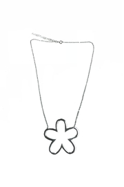 Lets Accessorize Open Flower Necklace - Front full body