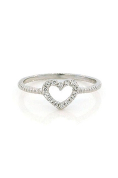 Lets Accessorize Open Pave Heart Ring - Alternate List Image