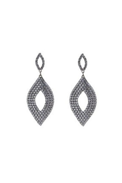 Lets Accessorize Oval Crystal Earrings - Alternate List Image