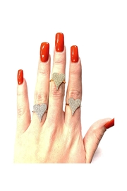 Lets Accessorize Pave Heart Ring - Front full body