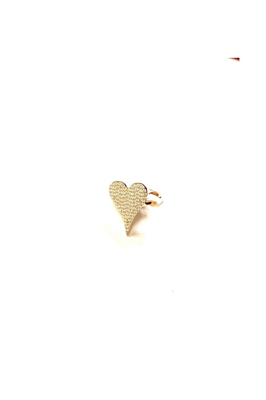Lets Accessorize Pave Heart Ring - Main Image