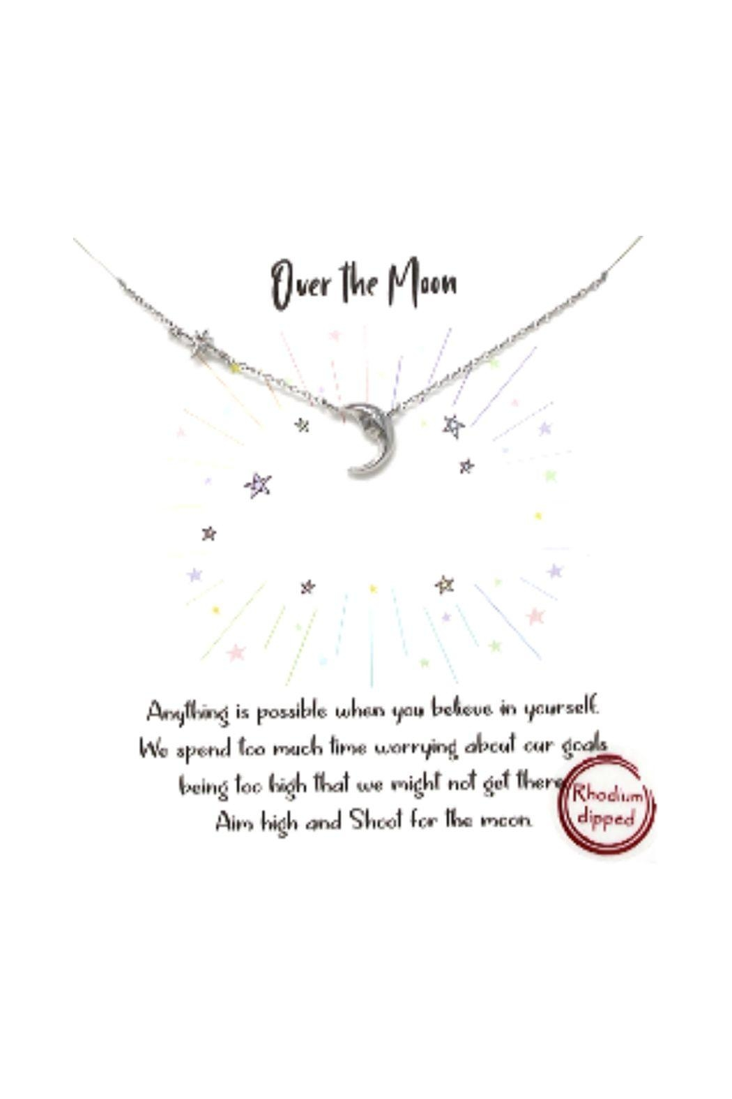 Lets Accessorize Pave Star And Moon Necklace - Main Image