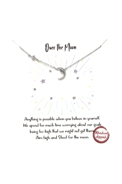 Lets Accessorize Pave Star And Moon Necklace - Alternate List Image