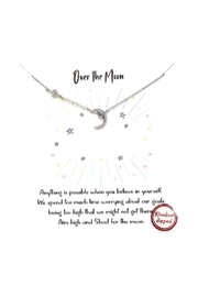 Lets Accessorize Pave Star And Moon Necklace - Product Mini Image