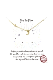 Lets Accessorize Pave Star And Moon Necklace - Front cropped