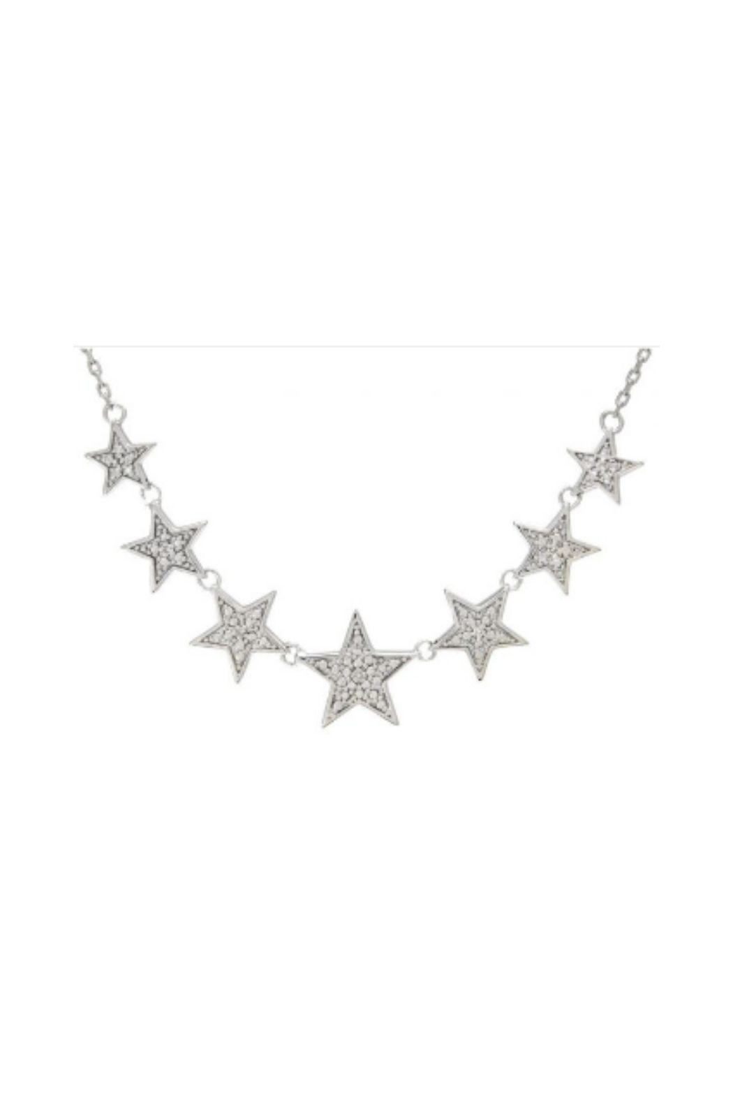 Lets Accessorize Pave Star Necklace - Main Image
