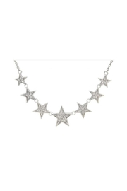 Lets Accessorize Pave Star Necklace - Front cropped