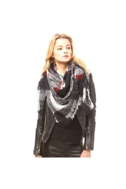 Lets Accessorize Plaid Banket Scarf - Front cropped