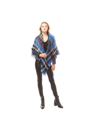 Lets Accessorize Plaid Banket Scarf - Front full body