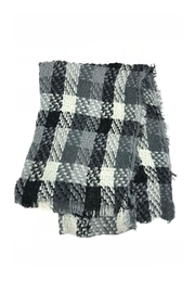 Lets Accessorize Plaid Fringe Scarf - Front cropped
