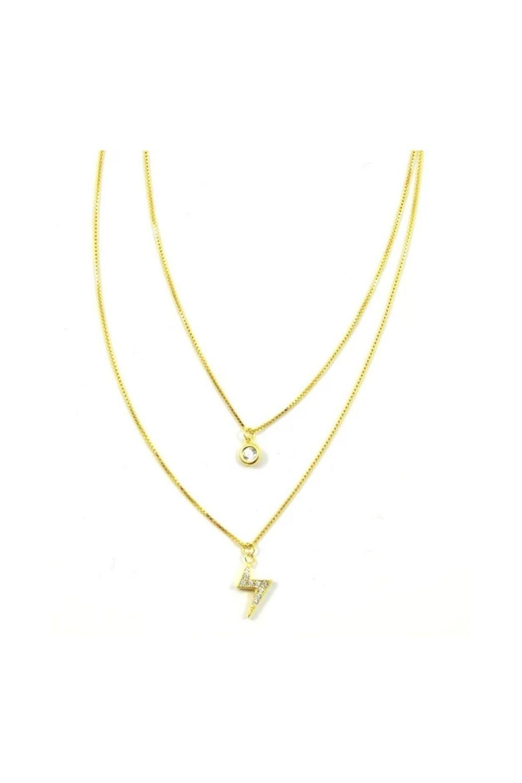Lets Accessorize Powerful Layer Necklace - Main Image