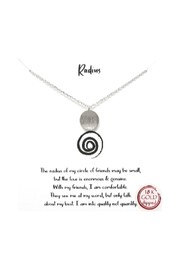 Lets Accessorize Radius Pendant Necklace - Front cropped