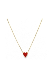 Lets Accessorize Red Heart Necklace - Product Mini Image