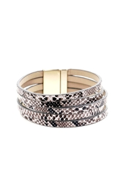 Lets Accessorize Reptile Leather Magnetic Bracelet - Product Mini Image
