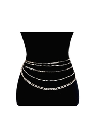 Lets Accessorize Rhinestone Chain Waist Belt - Product Mini Image