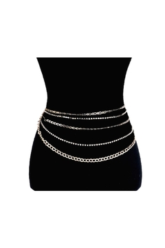 Lets Accessorize Rhinestone Chain Waist Belt - Product List Image