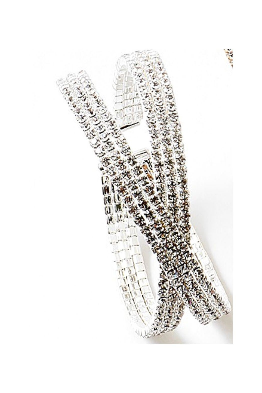 Lets Accessorize Rhinestone Cuff - Front Cropped Image