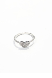Lets Accessorize Rhinestone Heart Ring - Product Mini Image