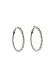 Lets Accessorize Rhinestone Hoop Earring - Front cropped