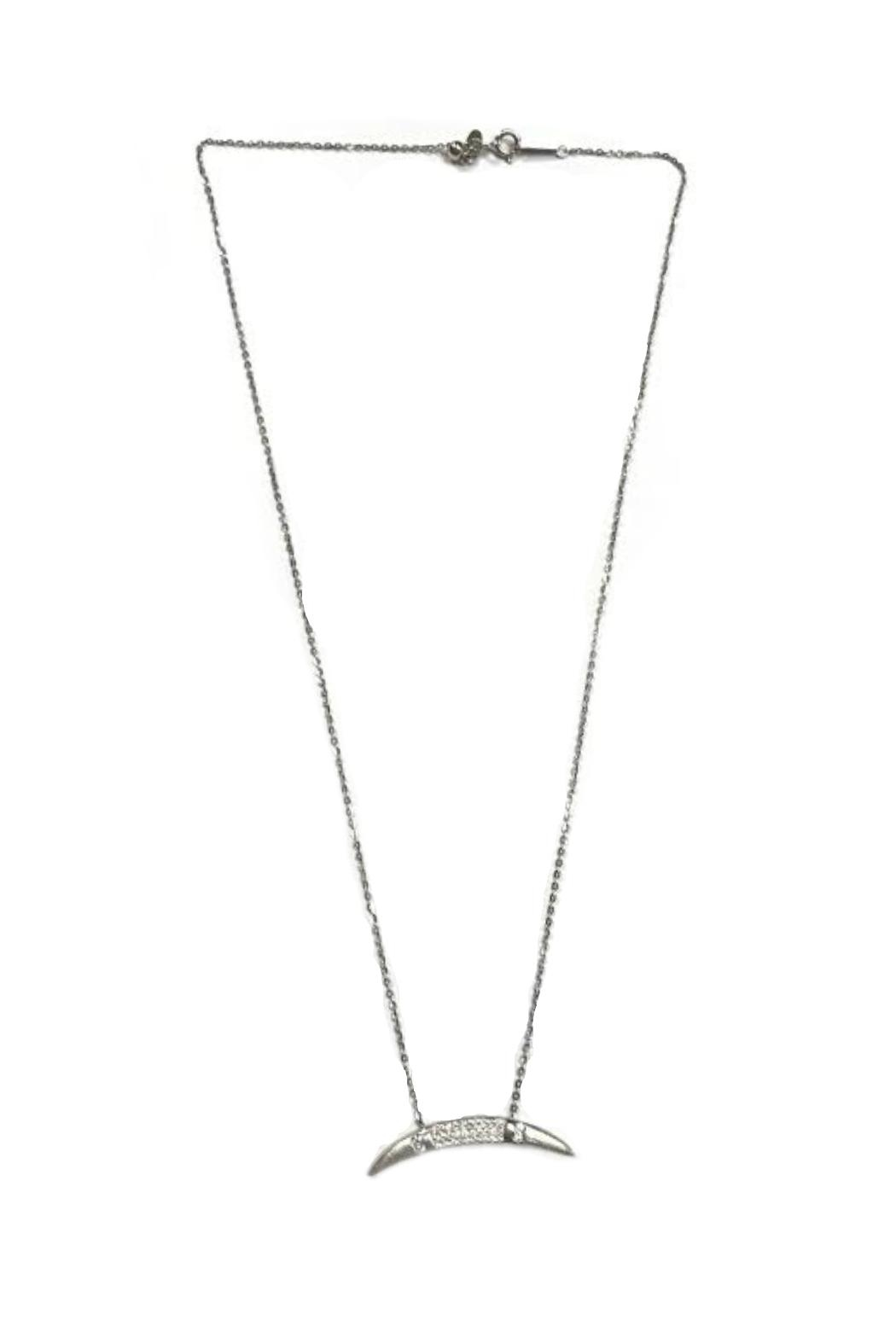 ecc381d3aa315 Lets Accessorize Silver Half-Moon Necklace from New York by Let's ...