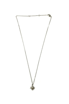 Lets Accessorize Silver Starburst Necklace - Product List Image