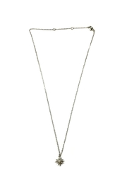 Lets Accessorize Silver Starburst Necklace - Front cropped