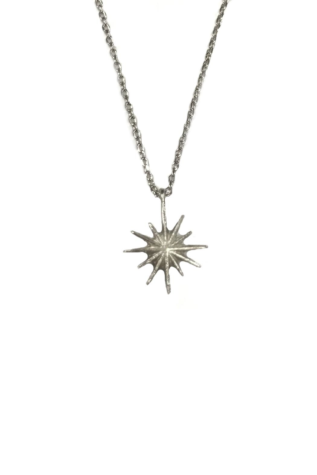 Lets Accessorize Silver Starburst Necklace - Front Full Image
